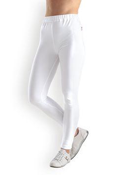 Sweat-Leggings Damen Weiß