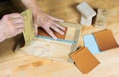 Sandpaper Measuring and Cutting Jig