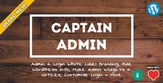 See More Captain Admin - WP Tools & White Label Brandingonline after you search a lot for where to buy