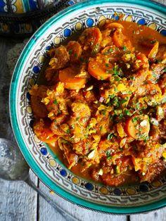 Marrokansk inspirert kyllinggryte