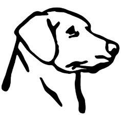Labrador Retriever Die Cut Vinyl Decal PV1934