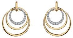 Yellow and White Gold Diamond Earrings White Gold Diamond Earrings, White Gold Diamonds, Drop Earrings, Yellow, Jewelry, Jewlery, Bijoux, Jewerly, Jewelery
