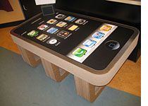 iPhone + iPhone coffee table = nuff said.