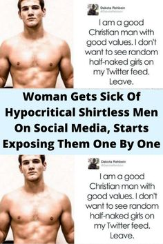 #Woman Gets Sick Of #Hypocritical #Shirtless Men On Social Media, Starts #Exposing Them One By #One