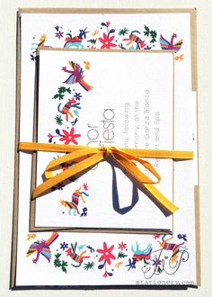 Destination Wedding Invitation - Mexico De Mis Amores. $5.00, via Etsy.