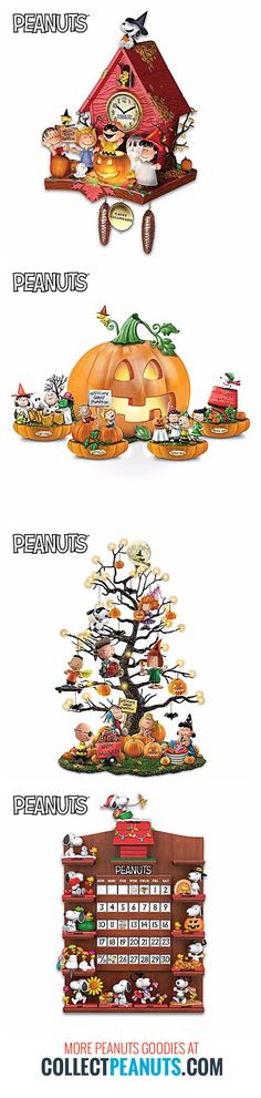 Prepare your humble haunt with Peanut Halloween figurines, shoes, clocks and more. Snoopy, Charlie Brown, Linus and the Peanuts gang are preparing their pumpkin patch for the main event. Start shopping at CollectPeanuts.com.