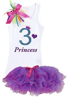 Bubblegum Divas Little Girls 5th Birthday Butterfly Shirt Rainbow Tutu Socks Hair Bow 4pc Outfit