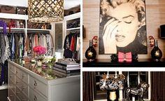 celebrity home khloe kardashian home office room walk in closet.