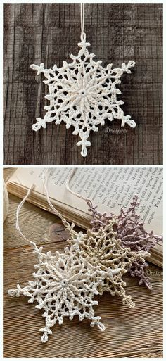 Frostvale Snowflake Free Frostvale Snowflake Free Crochet Pattern if you like to make an exceptional Christmas gift, a set of lacy snowflakes will be a perfect choice to make someone you like very happy with a handmade gift and feel the joy of giving. Crochet Snowflake Pattern, Christmas Crochet Patterns, Crochet Ornaments, Crochet Snowflakes, Snowflake Ornaments, Crochet Motif, Christmas Card Crochet, Crochet Ornament Patterns, Christmas Snowflakes