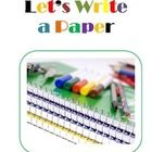 This helps young writers begin to learn how to write a paper.  ...