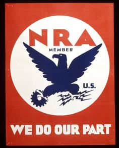 Title :     NRA Member. U.S. We Do Our Part Artist:     Charles T. Coiner Designer National Recovery Administration Publisher U.S. Government Printing Office, Washington, D.C. Printer, attributed