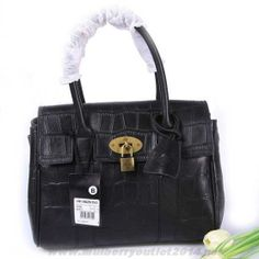 70ee51d15cae Womens Mulberry Smaller Bayswater Printed Leather Shoulder Bag Black  Discount