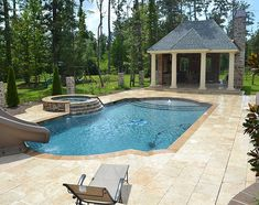 Roman Shaped Pool In Yard With Tan   Google Search. Swimming Pool  DesignsSwimming ...