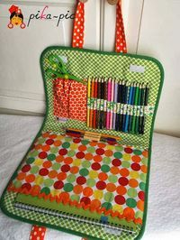 piKa-pic: Maletines de dibujo de tela para niña y niño