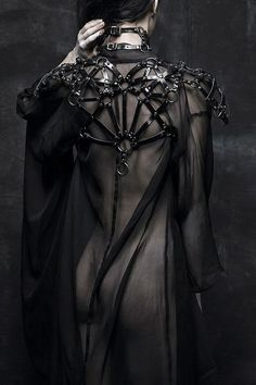 Model Leather darkness goth designer gothic harness nu goth dark fashion gothic girl all black gothic fashion dark beauty gothic beauty nu goth fashion Looks Style, Looks Cool, My Style, Dark Fashion, Gothic Fashion, Vampire Fashion, Vintage Fashion, Lingerie Latex, Black Mode