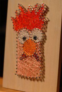 Beaker Muppet String Art  byMyCreativeDots