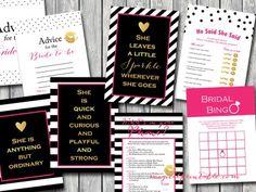 Bridal Shower Ideas on Decorations, Themes, Bridal Shower Favors and Games, FREE Printable Bridal Shower Games, FREE Printable Favors Unique Bridal Shower, Bridal Shower Signs, Bridal Shower Favors, Bridal Shower Decorations, Bridal Shower Invitations, Bridal Showers, Kate Spade Party, Kate Spade Bridal, Bridal Bingo