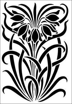 stencil di fiori dallo stencil biblioteca. Catalogo Stencil la descrizione breve pagina 15.