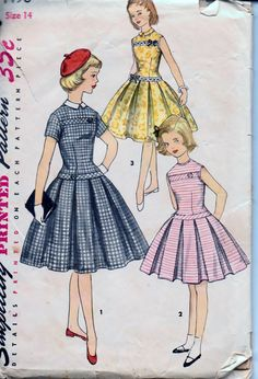 simplicity 1496 (1950s style party or Easter dress)