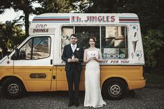 Ross Coghlan- A picture of me and Nicola having an ice cream on our wedding day. Hooray!