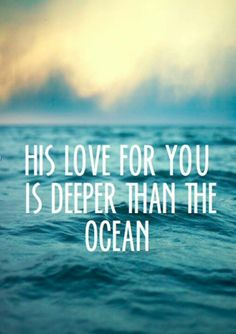 Oh, Lord, open our hearts and minds and lives to understand this depth of love You have for us.