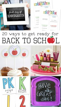 20 Ways to Get Ready for the First Day of School