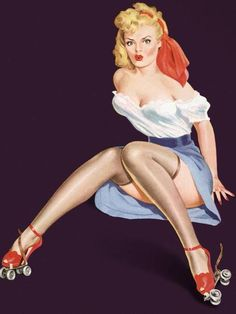 """""""Roller Derby Blonde"""" by Dali Dayna, Orlando // Imagekind.com – Buy stunning, museum-quality fine art prints, framed prints, and canvas prints directly from independent working artists and photographers."""