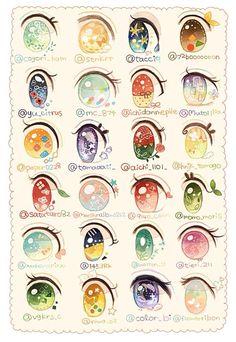 Drawing Eyes Expression anime, eyes, and kawaii image - Realistic Eye Drawing, Drawing Eyes, Manga Drawing, Drawing Art, Arte Do Kawaii, Art Kawaii, Kawaii Drawings, Cute Drawings, Regard Animal