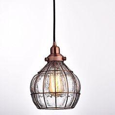 YOBO Lighting Vintage Cracked Glass & Rustic Wire Ceiling Pendant Light, Red Antique Copper YOBO Lighting http://www.amazon.com/dp/B0179CDWL0/ref=cm_sw_r_pi_dp_rw7cxb0BZFNMG