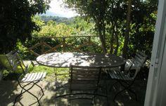 Gîte rural à Cagnano en Corse : terrasse