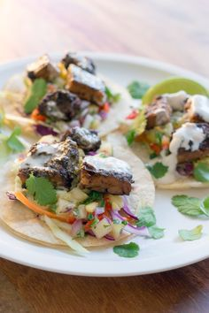 Jerk Tempeh Tacos