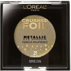 L'Oreal Paris Crushed Foils Metallic Eye ShadowAdd light and luminosity to your makeup routine with Crushed Foils Metallic Makeup Collection. These metallic eye shadows illuminate the eyes from subtle to bold, adding dimension to the lids. Liquid Glitter Eyeshadow, Foil Eyeshadow, Nude Eyeshadow, Eyeshadow Ideas, Eyeshadow Palette, Covergirl Cosmetics, Metallic Makeup, Modern Renaissance Palette, Crushed Stone