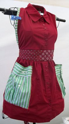 Funky Apron - made from shirts