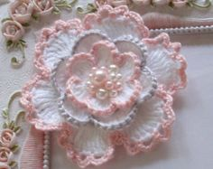 This listing you will receive an crochet flower in petal peach and off white size in 3 If You need a custom order, please leave note to me. I have another ribbon shop on ETSY. Name is Marcusann. Please take a look when you have time, Maybe you can find some items you want. https://www.etsy.com/shop/Marcusann?ref=search_shop_redirect Thanks for looking