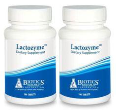 Biotics-Research-Lactozyme-180-Tablets-2-PACK-1281-Exp-9-18-SD