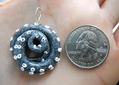 Sparkly Granite Octopus Tentacle Pendant by KrakenFashion on Etsy, $12.00
