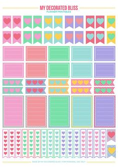 My Decorated Bliss: MAMBI: Create365 Happy Planner | Free Printable Stickers                                                                                                                                                                                 Más