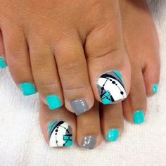 Nagellack kunst Best Toe Nail Art Ideas for Summer 2018 ❤ Abstracted Toe Nail Designs picture 1 ❤ To Pretty Toe Nails, Cute Toe Nails, Diy Nails, Neon Toe Nails, Glitter Nails, Toe Nail Color, Toe Nail Art, Nail Colors, Acrylic Nails