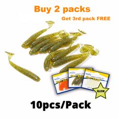 20 PCS Fishing Soft Lure 7.5cm//2g Plastic T Tail Bait Artificial Worm Swimbait for Bass Trout Walleye Fishing Accessory