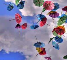 Clouds and cocktail umbrellas!