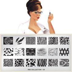 MoYou-London Nageldesign THE PRO Schablonen neue Kollektion 03: Amazon.de: Parfümerie & Kosmetik