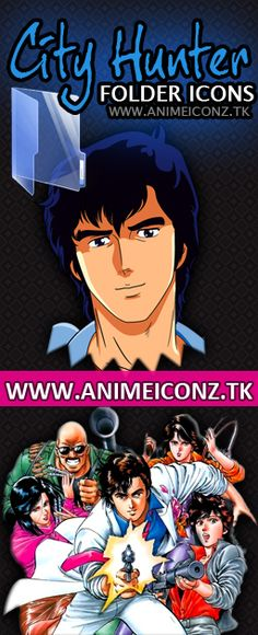 Anime City Hunter folder icons preview    #anime #CityHunter #manga #AnimeIcons
