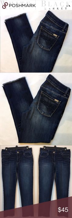 ✨ Slim Crop Jeans WHBM Slim Crop Jeans White House Black Market Jeans Ankle & Cropped