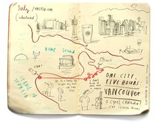 """I made a bunch of maps for the United Airlines inflight magazine. They are all geographically accurate."" --http://www.oliverjeffers.com/illustrations/united-airlines"