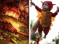 A hobbit halloween: Baby Smaug
