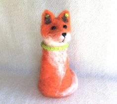 Needle felted Fox sculpture animal FREE SHIPPING soft by Felt4Soul, $21.00