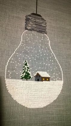 Etamin Çarpı İşi Örnekleri - Rush Tutorial and Ideas Christmas Embroidery, Diy Embroidery, Cross Stitch Embroidery, Embroidery Patterns, Xmas Cross Stitch, Cross Stitching, Christmas Cross, Christmas Diy, Cross Stitch Designs