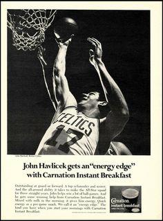 Carnation Instant Breakfast, John Havlicek, Absolut Vodka, Fender American, Candy Apple Red, Boston Celtics, Nba Basketball, Rebounding, Carnations