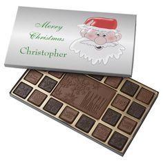#Santa Just Add Name 45 Piece Assorted #Chocolate Box