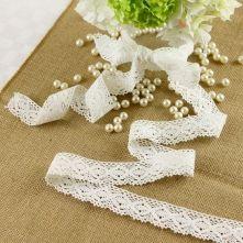 Pale Ivory Wide Lace Ribbon